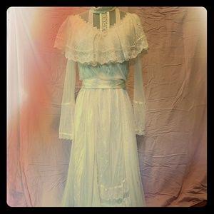 Gunne Sax Vintage Off-White Lace Dress